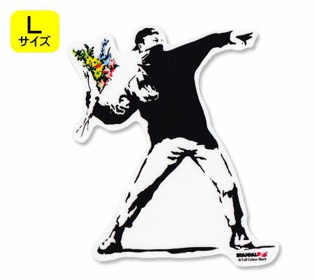 壁紙・装飾フィルム, ウォールステッカー・シール  BRANDALISED BANKSY Flower Bomber L OKSC-BNK001L-GEN