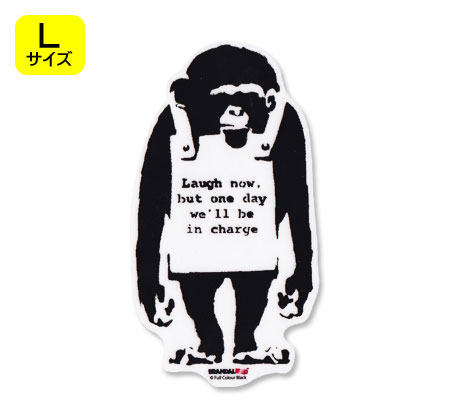 壁紙・装飾フィルム, ウォールステッカー  BRANDALISED BANKSY Do Nothing-Monkeysign L OKSC-BNK007L-GEN
