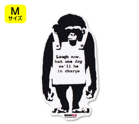 壁紙・装飾フィルム, ウォールステッカー  BRANDALISED BANKSY Do Nothing-Monkeysign M OKSC-BNK007M-GEN