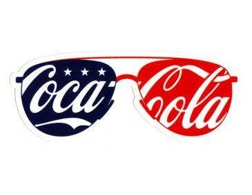 コカコーラ ステッカー グッズ アメリカン 車 おしゃれ バイク ヘルメット かっこいい カーステッカー アメリカ アメリカン雑貨 サングラス 【メール便OK】_SC-CCBA51-LFS