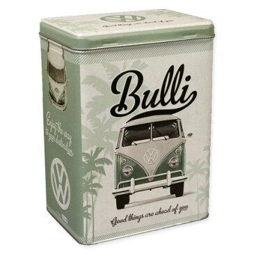 フォルクスワーゲン 小物入れ 収納 おしゃれ かっこいい ブリキ缶 ワーゲンバス タイプ2 VW アメリカ アメリカン雑貨 ティンボックス Lサイズ VW Retro Bulli_SR-43109-HYS