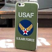 ミリタリーiPhone6ケース(カバー)U.S.エアフォース(アメリカ空軍)オリーブ