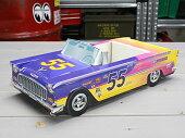 アメリカンペーパークラフトカー(車型紙製小物入れ/トレー)'55シボレーベルエアホットロッド