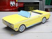 アメリカンペーパークラフトカー(車型紙製小物入れ/トレー)'64フォードマスタング