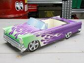 アメリカンペーパークラフトカー(車型紙製小物入れ/トレー)'55フォードフェアレーンホットロッド