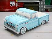 アメリカンペーパークラフトカー(車型紙製小物入れ/トレー)'57シボレー3100ピックアップトラックブルー