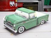 アメリカンペーパークラフトカー(車型紙製小物入れ/トレー)'57シボレー3100ピックアップトラックグリーン