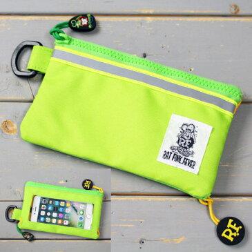 ラットフィンク スマートフォンケース ポーチ iPhoneケース 財布 カードケース RAT FINK アメリカン雑貨 キャラクター グリーン 【メール便OK】_SA-RAF481GR-MON