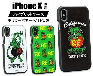 ラットフィンク iPhone ケース iPhoneX カバー スマホケース ジャケット キャラクター アメリカ モンスター ホットロッド RATFINK イーフィット 【メール便OK】_SA-RAF517-MON