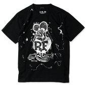 ラットフィンクTシャツ半袖スプラッシュブラック