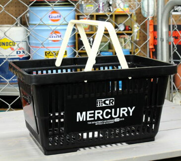 マーキュリー バスケット 収納 かご ポリプロピレン おしゃれ マーケットバスケット 買い物かご 洗濯物 洗車 小物入れ アメリカ アメリカン雑貨 MERCURY ブラック_MC-MEMABABK-MCR