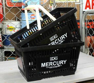 マーキュリー バスケット 収納 かご ポリプロピレン おしゃれ マーケットバスケット 買い物かご 洗濯物 洗車 小物入れ アメリカ アメリカン雑貨 MERCURY ブラック 2個セット_MC-MEMABABK2P-MCR
