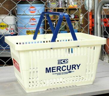 マーキュリー バスケット 収納 かご ポリプロピレン おしゃれ マーケットバスケット 買い物かご 洗濯物 洗車 小物入れ アメリカ アメリカン雑貨 MERCURY ホワイト_MC-MEMABAWH-MCR
