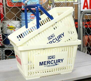 マーキュリー バスケット 収納 かご ポリプロピレン おしゃれ マーケットバスケット 買い物かご 洗濯物 洗車 小物入れ アメリカ アメリカン雑貨 MERCURY ホワイト 2個セット_MC-MEMABAWH2P-MCR