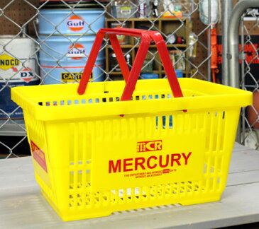マーキュリー バスケット 収納 かご ポリプロピレン おしゃれ マーケットバスケット 買い物かご 洗濯物 洗車 小物入れ アメリカ アメリカン雑貨 MERCURY イエロー_MC-MEMABAYE-MCR