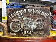 サインプレート アンティーク 看板 サインボード バイク LEGENDS NEVER DIE サイズS アメリカ アメリカン雑貨 【メール便OK】_SP-016-FEE