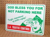 アメリカンサインプレート(案内表示板)駐車禁止/ロサンゼルス交通管制