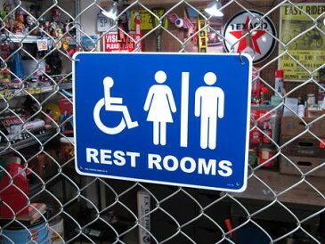 サインプレート 看板 サインボード 標識 トイレ 便所 アメリカ アメリカン雑貨_SP-CA54-SHO