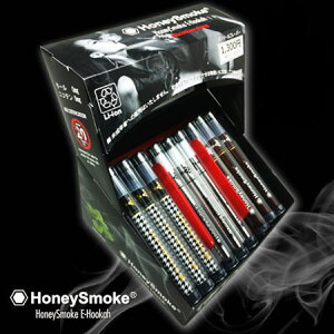 電子タバコ使い切り使い捨てメンソールハニースモークHoneySmokeE-Hookahのディスプレイ
