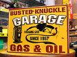 サインプレート アンティーク 看板 サインボード ガレージ ガソリンスタンド GARAGE GAS&OIL アメリカ アメリカン雑貨_SP-EM14012-FEE