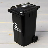 ゴミ箱型小物入れ貯金箱ペンスタンドブラック