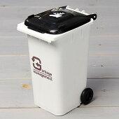 ゴミ箱型小物入れ貯金箱ペンスタンドホワイト