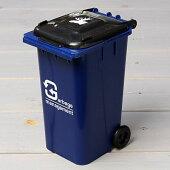 ゴミ箱型小物入れ貯金箱ペンスタンドブルー