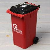 ゴミ箱型小物入れ貯金箱ペンスタンドレッド