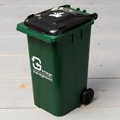ゴミ箱型小物入れ貯金箱ペンスタンドグリーン