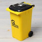 ゴミ箱型小物入れ貯金箱ペンスタンドイエロー