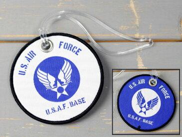 ミリタリー US AIR FORCE ストラップ ラゲージタグ トラベル スーツケース 刺繍 アクセサリー アメリカ空軍 アメリカ アメリカン雑貨 【メール便OK】_KH-LT05-GEN