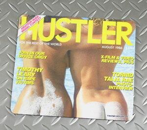 HUSTLER(ハスラー) マウスパッド おしゃれ セクシー 面白い 布製 おっぱい アメリカ アメリカン雑貨 AUG1986 【メール便OK】_SN-HDC18608-DGT