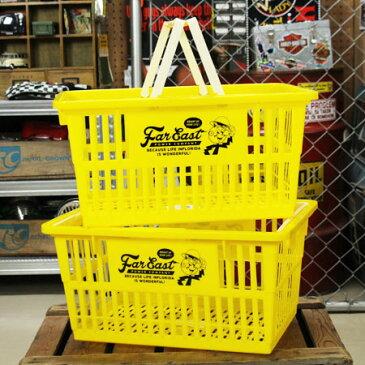 レディ・キロワット バスケット 収納 かご プラスチック おしゃれ マーケットバスケット 買い物かご 洗濯物 洗車 小物入れ アメリカ アメリカン雑貨 サイズL 2個セット_SB-007L2P-SHO