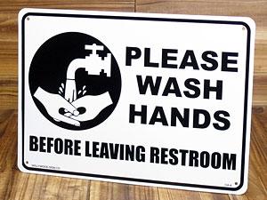 サインプレート 看板 サインボード 標識 トイレの後は手を洗いましょう アメリカ アメリカン雑貨_SP-CA04-SHO
