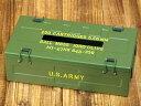 ミリタリー ティッシュケース おしゃれ 車 ティッシュカバー US ARMY アメリカ陸軍 アメリカ アメリカン雑貨_TC-003-FEE
