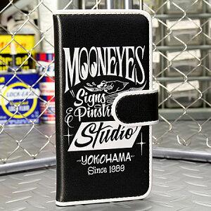 ムーンアイズiPhone6ケース(カバー)MOONEYES手帳型ピンストライプ