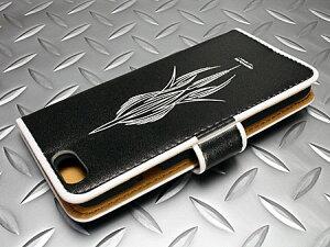ムーンアイズiPhone6ケース(カバー)MOONEYES手帳型ピンストライプの背面