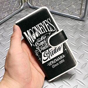 ムーンアイズiPhone6ケース(カバー)MOONEYES手帳型ピンストライプの使用例