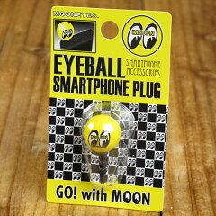 iPhoneなどのスマートフォンをアイボールでドレスアップ♪ムーンアイズ スマートフォンプラグ M...