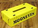 ムーンアイズ ティッシュケース おしゃれ 車 ティッシュカバー 鋼板 チェッカープレート MOONEYES イエロー アメリカ アメリカン雑貨_TC-MG660YE-MON