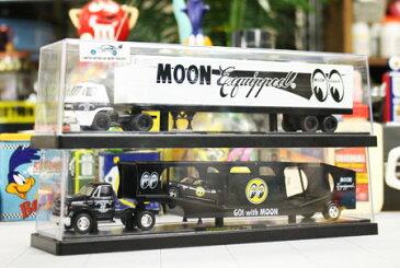 ムーンアイズ ミニカー アメ車 トレーラー 限定 カマロ スーパーバード シボレー ダッジ M2 MACHINES MOONEYES アメリカ アメリカン雑貨_MN-36000DG-MON