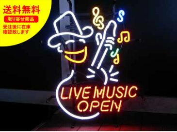 ネオンサイン ネオン 看板 電飾看板 ライト インテリア アメリカン 店舗 ショップ OPEN ライブハウス ジャズ 酒 ワイン バー クラブ LIVE MUSIC OPEN_NS-066-SHO