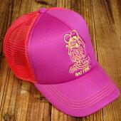 ラットフィンク(RATFINK)エンブロイダリートラッカーキャップ(帽子)/ピンク1