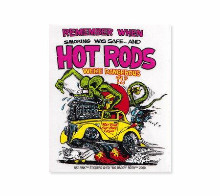 ラットフィンク ステッカー 車 アメリカン キャラクター おしゃれ バイク ヘルメット かっこいい ねずみ ホットロッド アメ車 カーステッカー RatFink USA モンスター HOT RODS 【メール便OK】_SC-RDUSA004-MON画像