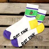 ラットフィンク(RatFink)ラインソックス(靴下)ショートグリーン