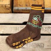 ラットフィンク(RatFink)ソックス(靴下)ブレイドブラウン