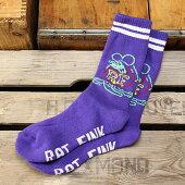 ラットフィンク(RatFink)ソックス(靴下)ブレイドパープル