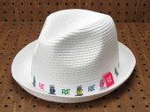 ラットフィンク(RATFINK)中折れ帽子(ハット)ホワイト1