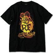 ラットフィンク(RATFINK)TシャツパフプリントレッドXイエロー表