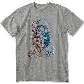 ラットフィンク(RATFINK)Tシャツレインボープリントグレー表